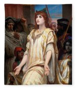 Esther Before Ahasuerus Fleece Blanket