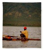 Ethiopia  Baiting A Longline On Lake Chamo Fleece Blanket