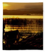 Ethiopia Catching Live-bait At Sundown On Lake Chamo Fleece Blanket