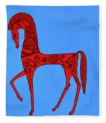 Etruscan Horse #2 Fleece Blanket