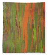 Eucalyptus Abstract Fleece Blanket