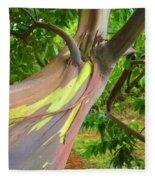 Eucalyptus Tree Fleece Blanket
