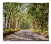 Eucalyptus Tree Tunnel - Kauai Hawaii Fleece Blanket