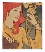 Eugene Grasset Fleece Blanket