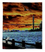Eugene Talmadge Memorial Bridge And The Serious Politics Of Necessary Change No. 1 Fleece Blanket