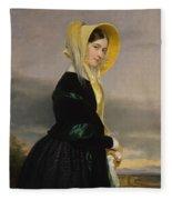 Euphemia White Van Rensselear Fleece Blanket