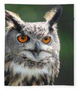 Eurasian Eagle Owl Fleece Blanket