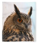 Eurasian Eagle-owl Fleece Blanket