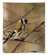 European Goldfinch 5 Fleece Blanket