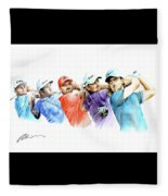 European Golf Champions Race 2017 Fleece Blanket