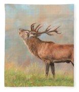 European Red Deer Fleece Blanket