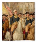 Evacuation Day And Washington's Triumphal Entry In New York City Fleece Blanket