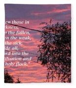 Evangelism Prayer Fleece Blanket