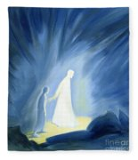 Even In The Darkness Of Out Sufferings Jesus Is Close To Us Fleece Blanket