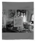 Even Without Color Fleece Blanket