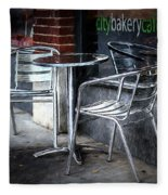 Evening At A Sidewalk Cafe Fleece Blanket