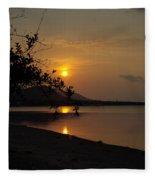 evening at Bophut Bay Fleece Blanket