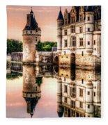 Evening At Chenonceau Castle Fleece Blanket