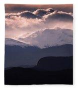 Evening At Evans Fleece Blanket