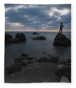 Evening At Sidna Ali Beach 3 Fleece Blanket