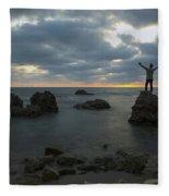 Evening At Sidna Ali Beach 2 Fleece Blanket