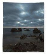 Evening At Sidna Ali Beach 4 Fleece Blanket