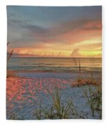 Evening At The Beach Fleece Blanket
