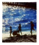Evening At The Beach Fleece Blanket