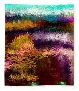 Evening At The Pond Fleece Blanket