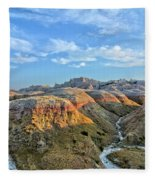 Evening At Yellow Mounds 2 Fleece Blanket