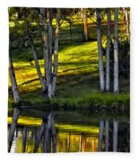 Evening Birches Fleece Blanket