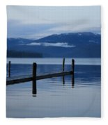 Tranquil Blue Priest Lake Fleece Blanket