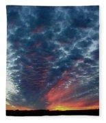Evening Sky In Kansas Fleece Blanket