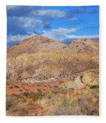 Evening Colors Of The Desert Fleece Blanket