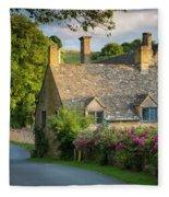 Evening Cottage Fleece Blanket