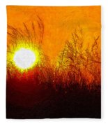 Evening Dunes Impasto Fleece Blanket