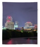 Evening Falls On Indianapolis Fleece Blanket