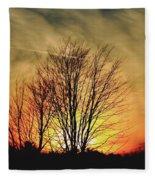 Evening Fire Fleece Blanket