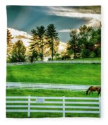 Evening Graze In Tennessee Fleece Blanket
