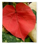 Evening Hau Tree Leaves Fleece Blanket