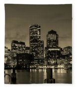 Evening In Boston Fleece Blanket