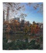 Evening In Central Park Fleece Blanket