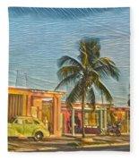 Evening In Cuba Fleece Blanket