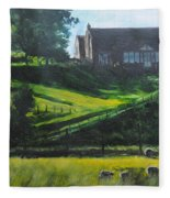 Evening In North Wales Fleece Blanket