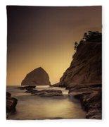 Evening In The Cove Fleece Blanket