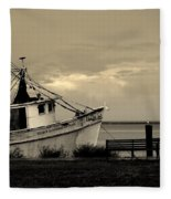 Evening In The Harbor Fleece Blanket