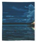 Evening In The Lagoon Fleece Blanket