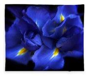 Evening Iris Fleece Blanket