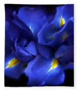 Evening Iris Fleece Blanket