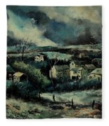 Evening Is Falling  Fleece Blanket